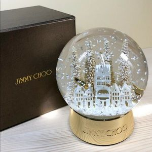 Jimmy Choo Ultra Rare Holiday Snow Globe NEW+BOX